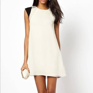 ASOS off white pearl lined dress